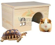 QUALITY  RAT GUINEA PIG TORTOISE WOOD CAGE VIVARIUM HIDE HOUSE / HUTCH 28C 61262