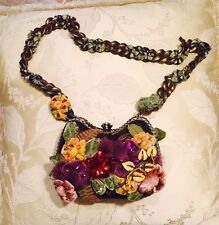 Mary Frances Flower & Crystal Handbag