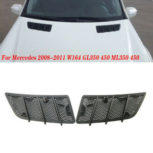 For Mercedes Benz 08-11 W164 GL ML Class 350 450 Hood Air Vent Grille Cover Trim