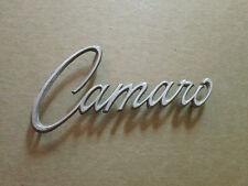 Vintage Chevy Camaro Emblem Sign Badge Nameplate Script Metal Ornament Trim