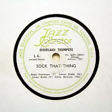 "DIXIELAND THUMPERS (Dodds) ""Sock That Thing"" (E+) JAZZ COLLECTOR L-6 [78 RPM]"