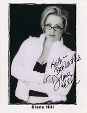 DIANE HILL AUTOGRAPHED PHOTO SPORTS REPORTER MAXIM MAG.