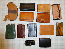 Lot of 12 Vintage Keytainer Key Holder Pouch Chain Buxton Leather