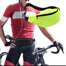 Waist Solid Color Bags Travel Handy Packs Waist Belt 2 Zip Pouch F Yellow
