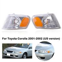 FOR TOYOTA COROLLA 2001 2002 CORNER PARK SIGNAL LAMP RIGHT & LEFT PAIR SET
