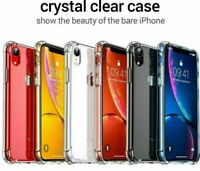 For iPhone 12 8 7 6 XS X Bumper Shockproof Clear Silicone Protective Case Cover
