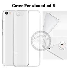 CUSTODIA COVER CASE PER Xiaomi mi 5 SLIM TRASPARENTE morbido TPU