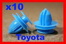10 TOYOTA PORTA CARD Fascia Pannello Trim Auto Plastica Fermo Clip Rivetto