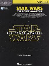 Star Wars The Force despierta Violín Partituras Libro Con Audio jugar junto