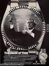 1974 ANTAL DORATI National Symphony Orchestra Conductor Rolex Watch PRINT AD