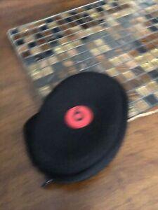 Beats by Monster Headphones Bag Black Red Zipper Pouch