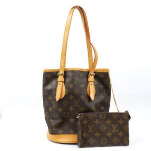 LOUIS VUITTON Bucket PM Monogram Tote Bag Shoulder Bag M42238