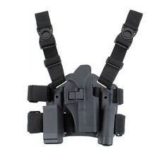 Tactical Right Drop Leg Thigh Pistol Mag Holster For GLK 17 19 22 23 31 32