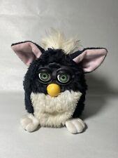 Vintage Furby 1998 Tuxedo Skunk Black White Fur Green Eyes