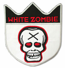 WHITE ZOMBIE X-HEAD JUMBO SHIELD EMBROIDERED PATCH NEW OFFICIAL ROB MERCH