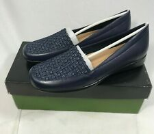 Trotters Women's Jenkins Slip-On Navy Leather/Synthetic Loafers