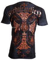 Archaic AFFLICTION Men T-Shirt ANGSTROM Cross Tattoo Fight Biker M-4XL $40 a