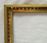 "ANTIQUE Fits 8.25"" x 10.25"" LEMON GOLD GILT STENCILED FRAME FINE ART VICTORIAN"
