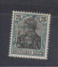 Marienwerder 75pfg Germania surcharge in green, wide spacing, mint, Michel 18P3