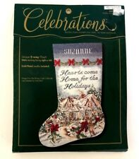 Bucilla Christmas Stocking Kit Counted Cross Stitch Celebrations New in Package