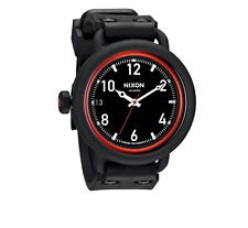 Nixon A488760 October All Black / Red Men's Watch 5549