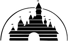 Disney Castle Wall Stencil