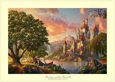 Thomas Kinkade Beauty and the Beast II 24 x 36 S/N Limited Edition Paper Disney