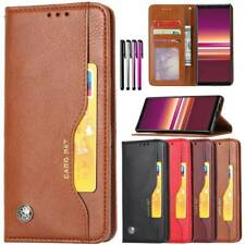 For Sony Xperia 5 2019 Shockproof Case Stand Wallet Leather Cover Flip Book Skin