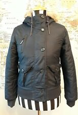 Bench Parka Parker Coat Hooded Dark Blue Ladies Jacket Coat size Small Ladies