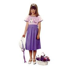 Ariadne Heirlooms Girls Fairy Folk Dress Purple Cotton Embroidery Short Sleeve