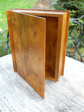 Secret Manuscript Writers Wood Box Mid Century Danish Modern Burl Myrtlewood