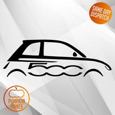 Fiat 500 Abarth Sillouette calcomanías de lado-Vinilo Coche Decal Pegatinas