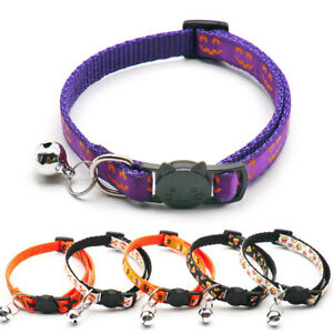 Halloween Adjustable Cat Collar With Bell Party Decoration Pet Collars Supplies