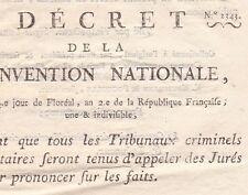 Révolution Décret 2343 Convention Nationale Tribunaux Criminels Militaires