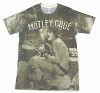 Motley Crue Tommy Lee All Bad Things All Over Sublimated T Shirt New Official