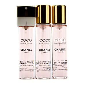 NEW Chanel Coco Mademoiselle Twist & Spray EDP Refill 3x20ml Perfume