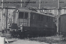 AK UNREAD Morop Congress; Sweden litt. Z 31 Baden Model järnvägs (G2562)