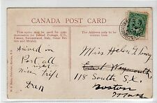 Canada picture postcard with HALIFAX & CAMPBELLTON R.P.O. postmark (C24147)