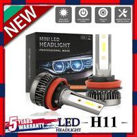 MINI H11 LED Headlight Bulbs Conversion Kit 200W 48000LM 6000K Hi/Lo Beam Lamps