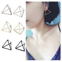 Trendy Hook Women Fashion Punk Eardrop Ear Stud Jewelry Triangle Dangle Earring