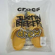 Justin Bieber Drew House x Crocs Men's Size 7/Women's Size 9 New Free Shipping