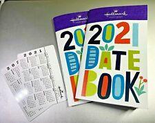 Set of 2 Hallmark 2021 14 Month Datebook Planners + 2 Bonus Wallet Calendars