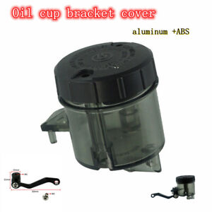 Universal Motorcycle Handlebar Front Brake Oil Cup Bracket Cover Oil Cup