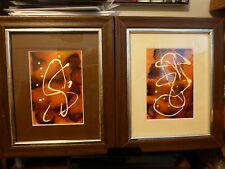 Pair of Original Handsigned Abstract Expressionist Paintings