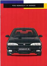 Renault 19 1994-95 UK Market Sales Brochure 16v Executive RT RN RL Cabriolet