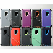 Samsung Galaxy S9 / Galaxy S9+ Plus Defender Shockproof Case w/Holster Belt Clip