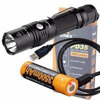 Fenix PD35 TAC 1000 Lumen Tactical Flashlight  & 3500U USB Rechargeable 18650