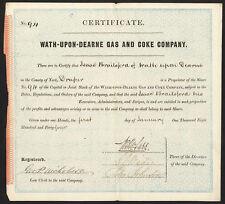 WATH-upon-Valleys gas & Coca Cola Co., una acción, 1844