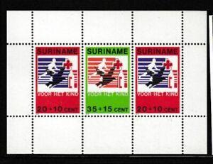 SURINAME Blood Transfusion MNH souvenir sheet
