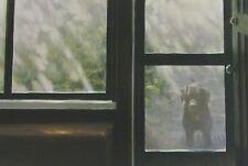 Robert Bateman Art Print Screened Porch Black Lab Dog Old Buggy & Winter Birds